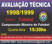 Inter de Minas abre captação de atleta Sub-17...
