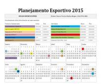 Fênix anuncia calendário de atividades 2015